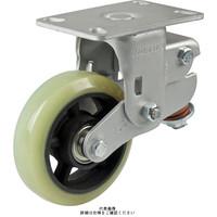 ナンシン(nansin) 牽引用キャスター固定タイプ 200mmウレタン車輪付 8008-8-T1-UF-75 1セット(4個)(直送品)