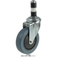 ナンシン(nansin) 一般キャスター自在タイプ 126mmゴム・グレー(B入)車輪付 GMO-125BM-28 1セット(4個)(直送品)