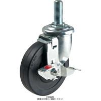 ナンシン(nansin) 一般キャスター自在ストッパー付タイプ 65mmナイロン・白車輪付 SEL-65NLS-1-M12 1セット(4個)(直送品)