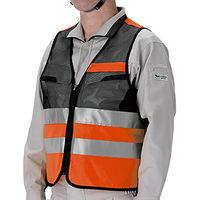 ミドリ安全 高視認性 安全ベスト 蛍光オレンジ フリー 4073160080 1着(直送品)