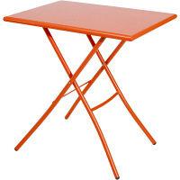 FIAM シリオ70×50テーブル オレンジ 幅700×奥行500×高さ700mm srio57X70/or 1台 (取寄品)