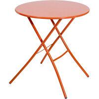 FIAM シリオ67φテーブル オレンジ 幅670×奥行670×高さ700mm srio67φ/or 1台 (取寄品)