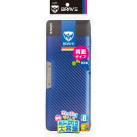 ソニック ブレイブ両面筆入 フラット大容量 カーボン調 ブルー SK-5023-B 1個 (直送品)