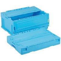 軽量折りたたみコンテナ CSS31NR ブルー ACCN360 1セット(10個) 岐阜プラスチック工業 (直送品)
