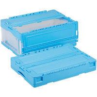 軽量折りたたみコンテナ CSS31NR ブルー透明 ACCN365 1セット(10個) 岐阜プラスチック工業 (直送品)