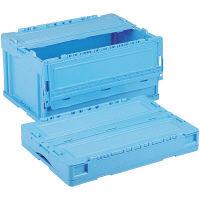 軽量折りたたみコンテナ CSS41NR ブルー ACCN380 1セット(10個) 岐阜プラスチック工業 (直送品)