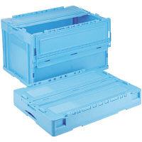 軽量折りたたみコンテナ CSS51NR ブルー ACCN550 1セット(10個) 岐阜プラスチック工業 (直送品)