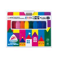 サクラクレパス さんかくクーピーペンシル8色 FYL8 1箱 (直送品)