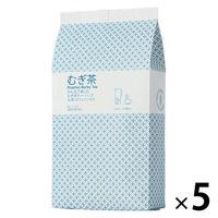 小谷穀粉 みんなで楽しむむぎ茶ティーバッグ1L用 1セット(52バッグ入×5袋)