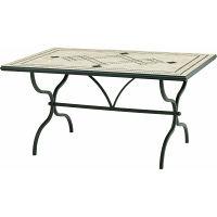 タカショー デルタ モザイクダイニングテーブル 幅1525×奥行965×高さ760mm AXDT-5200 1台 (直送品)