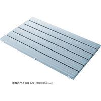 山崎産業 カラースノコ・セフティ抗菌L型 600×1806mm 厚み48mm 約9.6kg グレー (直送品)
