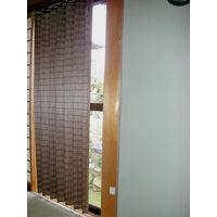 大湖産業 大湖産業 ウッドカーテン 100×175cm 重ね織りタイプ ダークブラウン JA-001 1台 (直送品)