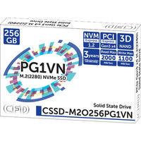 CFD販売 M.2接続 SSD 256GB 3D NAND採用 CSSD-M2O256PG1VN 1台  (直送品)