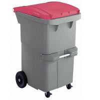 リサイクルカート#200 反転型 レッド RCN200R 200L 1台 積水マテリアルソリューションズ (直送品)