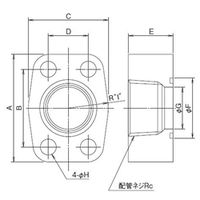 ダイキン油機 配管フランジ NF-VR02 1個 (直送品)