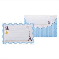 包む レターセット エッフェルミニ (便箋5枚・封筒5枚)×3セット 0-037-2 (直送品)
