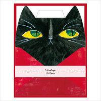 包む レターセット ブラックキャット (便箋10枚・封筒5枚)×2セット 0-076-6 (直送品)