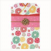 包む 着物ポチ袋 菊桜(きくざくら) 6枚 4-806-6(直送品)