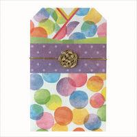 包む 着物ポチ袋 バブルドット 6枚 4-807-0(直送品)