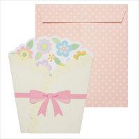 包む 色紙 ハートフルブーケ (封筒1枚・ミニカード18枚付き) B-0006 1枚 (直送品)