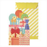 包む 色紙 プレゼント (封筒付・シール20枚付き) B-0012 1枚 (直送品)