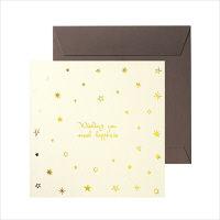 包む 色紙 ミニ スター (封筒付・シール8枚付き) B-0018 2枚 (直送品)