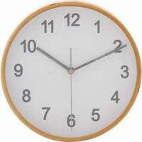 プライウッド掛時計 Φ22cm WH ホワイト 85360 1個 不二貿易 (直送品)