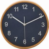 プライウッド掛時計 Φ22cm NV ネイビー 85361 1個 不二貿易 (直送品)
