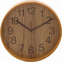 プライウッド掛時計 Φ28cm NA ナチュラル 85366 1個 不二貿易 (直送品)