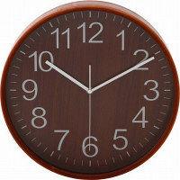 プライウッド掛時計 Φ28cm BR ブラウン 85367 1個 不二貿易 (直送品)