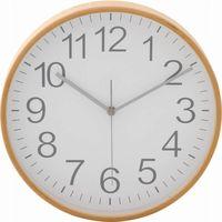 プライウッド掛時計 Φ28cm WH ホワイト 85368 1個 不二貿易 (直送品)