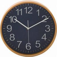 プライウッド掛時計 Φ28cm NV ネイビー 85369 1個 不二貿易 (直送品)