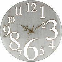 壁掛け時計 レトロ ホワイト 56920 1個 不二貿易 (直送品)