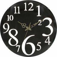 壁掛け時計 レトロ ブラウン 56921 1個 不二貿易 (直送品)