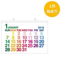 壁掛カレンダーA1 ホワイト (直送)