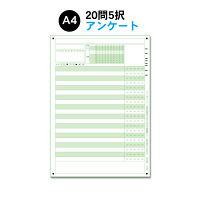 スキャネット A4アンケートシート年クラス番号20問5択 SN-0187(100) 1セット (直送品)