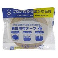 ハンディ・クラウン 養生用布粘着テープ 茶 24mm×25m 2591120024 1セット(60個入) (直送品)