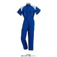 ヤマタカ 半袖夏ツナギ服 ライトネイビー/ライトグレー 6L 411-2-6L 1枚(直送品)