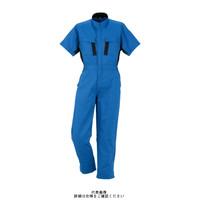 ヤマタカ 綿半袖夏ツナギ服 ブルー 4L 545-1-4L 1枚(直送品)