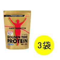 パワープロダクション ゴールデンタイムプロテイン サワーミルク味 1.0kg×3袋 江崎グリコ プロテイン