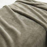 無印良品 消臭吸湿極厚手アクリル混毛布・D/ライトベージュ 02040314 良品計画 (取寄品)