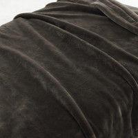 無印良品 消臭吸湿極厚手アクリル混毛布・D/ライトブラウン 38721604 良品計画 (取寄品)