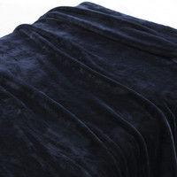 無印良品 あたたかファイバー厚手毛布・D/ネイビー 38721666 良品計画 (取寄品)