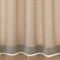 無印良品 ポリエステル杢調プリーツカーテン/ベージュ 幅100×丈135cm 38755173 良品計画