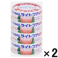 いなば ライトツナフレーク 4缶入×2個