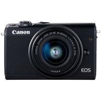 キヤノン ミラーレスカメラ EOS M100・EFーM15ー45 IS STM レンズキット (ブラック) 2209C014 1台  (直送品)