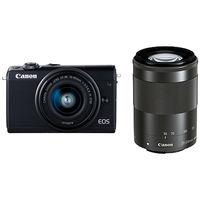キヤノン ミラーレスカメラ EOS M100・ダブルズームキット (ブラック) 2209C024 1台  (直送品)