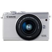 キヤノン ミラーレスカメラ EOS M100・EFーM15ー45 IS STM レンズキット (ホワイト) 2210C014 1台  (直送品)