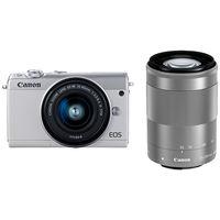 キヤノン ミラーレスカメラ EOS M100・ダブルズームキット (ホワイト) 2210C024 1台  (直送品)
