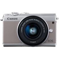 キヤノン ミラーレスカメラ EOS M100・EFーM15ー45 IS STM レンズキット (グレー) 2211C014 1台  (直送品)